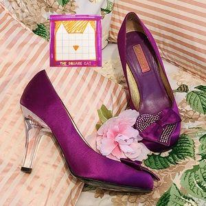 Vintage! Princess Sparkly Hearts Clear BJ Heels !